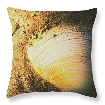 Seashells And Beach Colours Throw Pillow