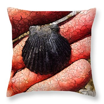 Seashells By The Seashore Throw Pillow