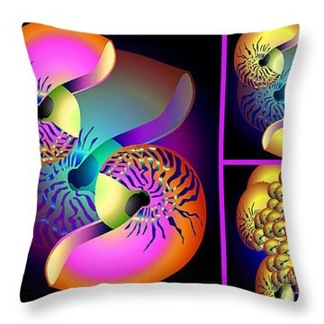 Seashells Family Throw Pillow