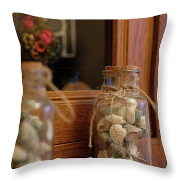 Throw Pillow featuring the photograph Seashells by Jeremy Lavender Photography