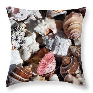 Seashells Throw Pillow by Kristin Elmquist