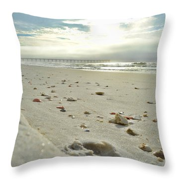 Throw Pillow featuring the photograph Seashells On The Seashore by Renee Hardison