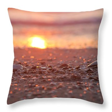 Seashells Suns Reflection Throw Pillow by Robert Banach