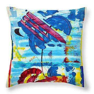 Seashore Holiday Throw Pillow