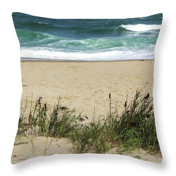 Throw Pillow featuring the photograph Seashore Retreat by Michelle Wiarda