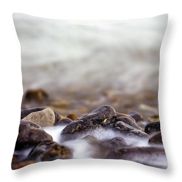 Throw Pillow featuring the photograph Seashore  by Will Gudgeon