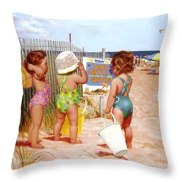 Seaside Adventures Throw Pillow
