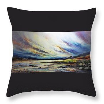 Seaside Throw Pillow by AmaS Art