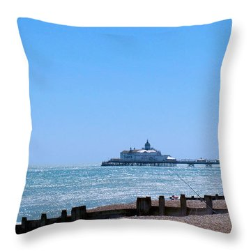 Seaside And Pier Throw Pillow