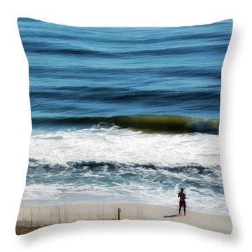 Seaside Fisherman Throw Pillow