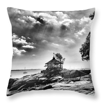 Seaside Gazebo Throw Pillow