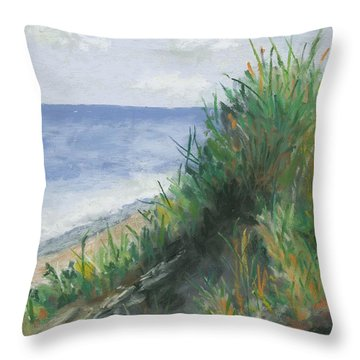 Seaside Throw Pillow by Ginny Neece