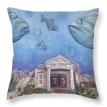 Postoffices Throw Pillows