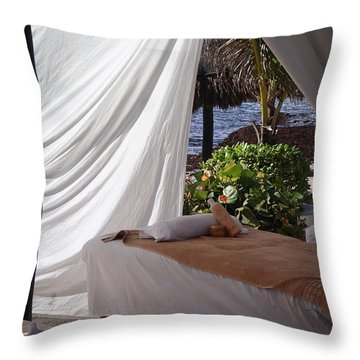 Seaside Massage Throw Pillow