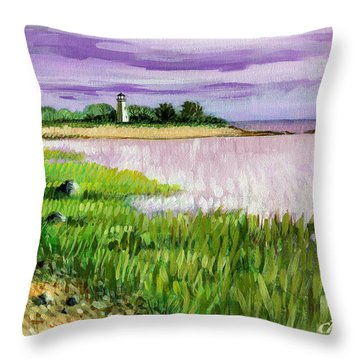 Seaside Park Throw Pillow