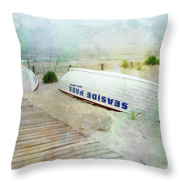 Seaside Park Throw Pillow