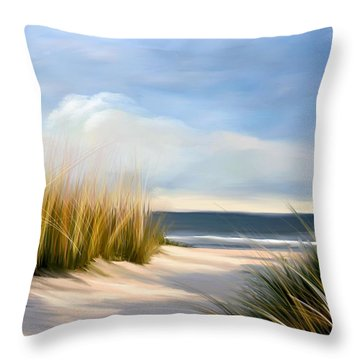 Seaside Path Throw Pillow
