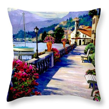 Seaside Pathway Throw Pillow