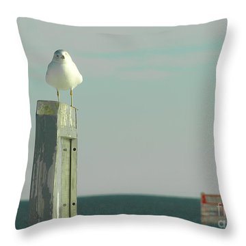 Throw Pillow featuring the photograph Seaside by Raymond Earley