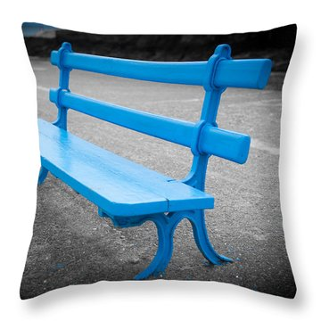 Seaside Resting Place Throw Pillow by Helen Northcott