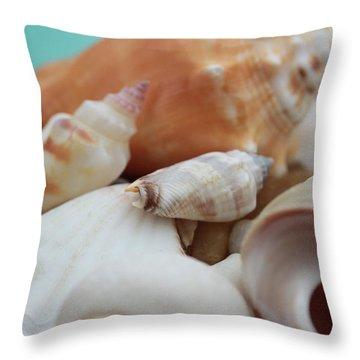 Seaside Seashells Throw Pillow