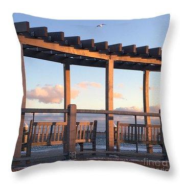 Seaside Seating  Throw Pillow