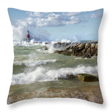 Seaside Splash Throw Pillow