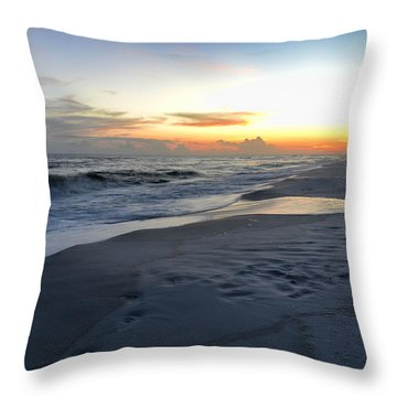 Throw Pillow featuring the photograph Seaside Sunset by Renee Hardison