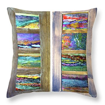 Seasides Throw Pillow
