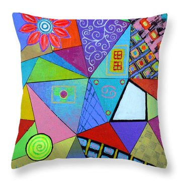 Season Of Cancer Throw Pillow by Jeremy Aiyadurai