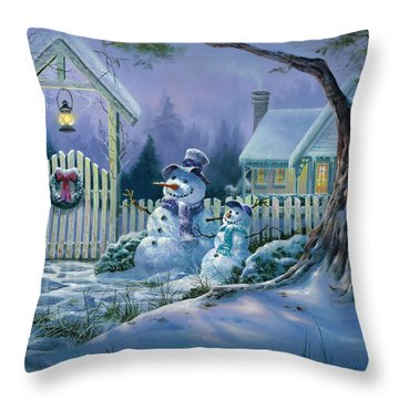 Season's Greeters Throw Pillow