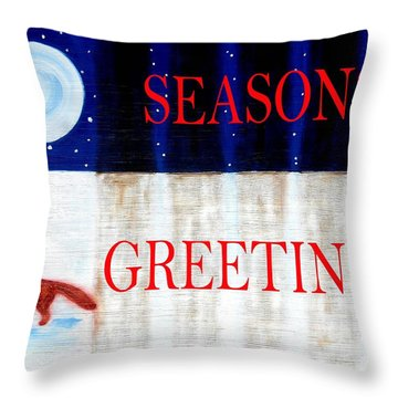 Seasons Greetings 13 Throw Pillow by Patrick J Murphy