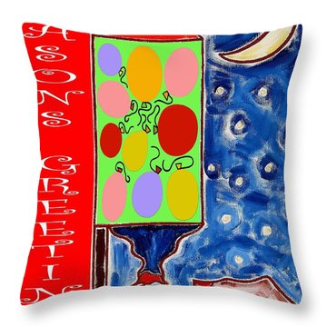 Seasons Greetings 60 Throw Pillow by Patrick J Murphy