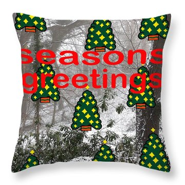 Seasons Greetings 8 Throw Pillow by Patrick J Murphy