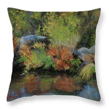 Seasons In Transition Throw Pillow