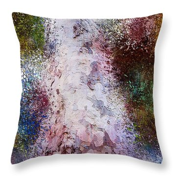 Throw Pillow featuring the painting Seasons by Mark Taylor