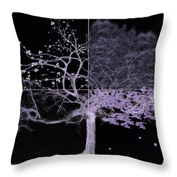 Seasons Of Change Throw Pillow by Gray  Artus