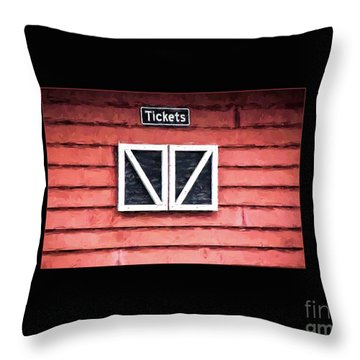 Throw Pillow featuring the photograph Season's Over by Laurinda Bowling