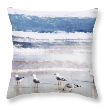 Seaspray Throw Pillow by Holly Kempe
