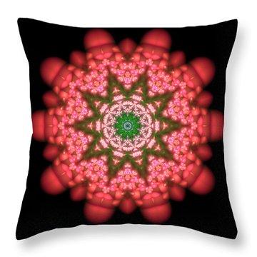 Throw Pillow featuring the digital art Seastar Lightmandala  by Robert Thalmeier