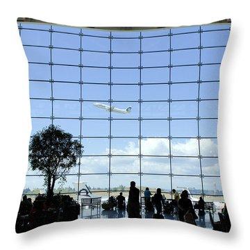 Seatac Airport K088 Throw Pillow by Yoshiki Nakamura