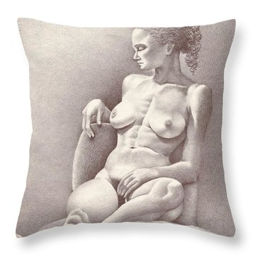 Seated Figure No. 6 Throw Pillow