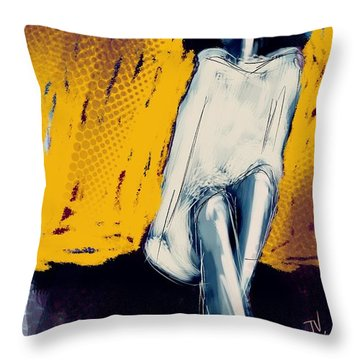 Seated On The Edge Throw Pillow