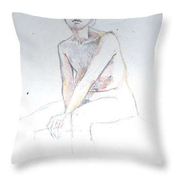 Seated Study 2 Throw Pillow
