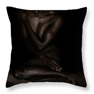 Seated Woman 3 Throw Pillow