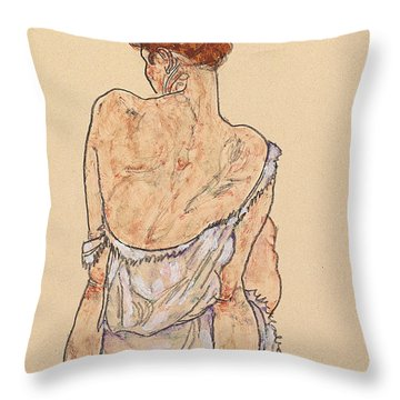 Woman Underwear Throw Pillows