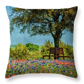 Throw Pillow featuring the photograph Seating For Two by Ken Smith