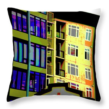 Throw Pillow featuring the photograph Seattle Architecture by Yulia Kazansky