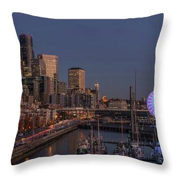 Seattle Autumn Nights Throw Pillow