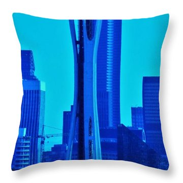 Seattle Blue Throw Pillow by Martin Cline